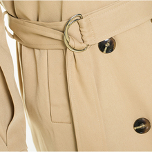 Khaki Long Red Trench Coats for Women Autumn Classic Double Breasted Trench Coat Lady Overcoat Windbreaker with Belt RH549
