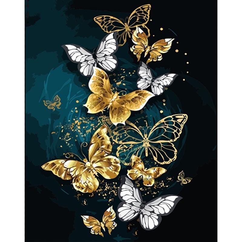 Алмазная 5D картина «сделай сам» с бабочками, полноразмерная/круглая вышивка крестиком с изображением животных, стразы, мозаика, домашний де...