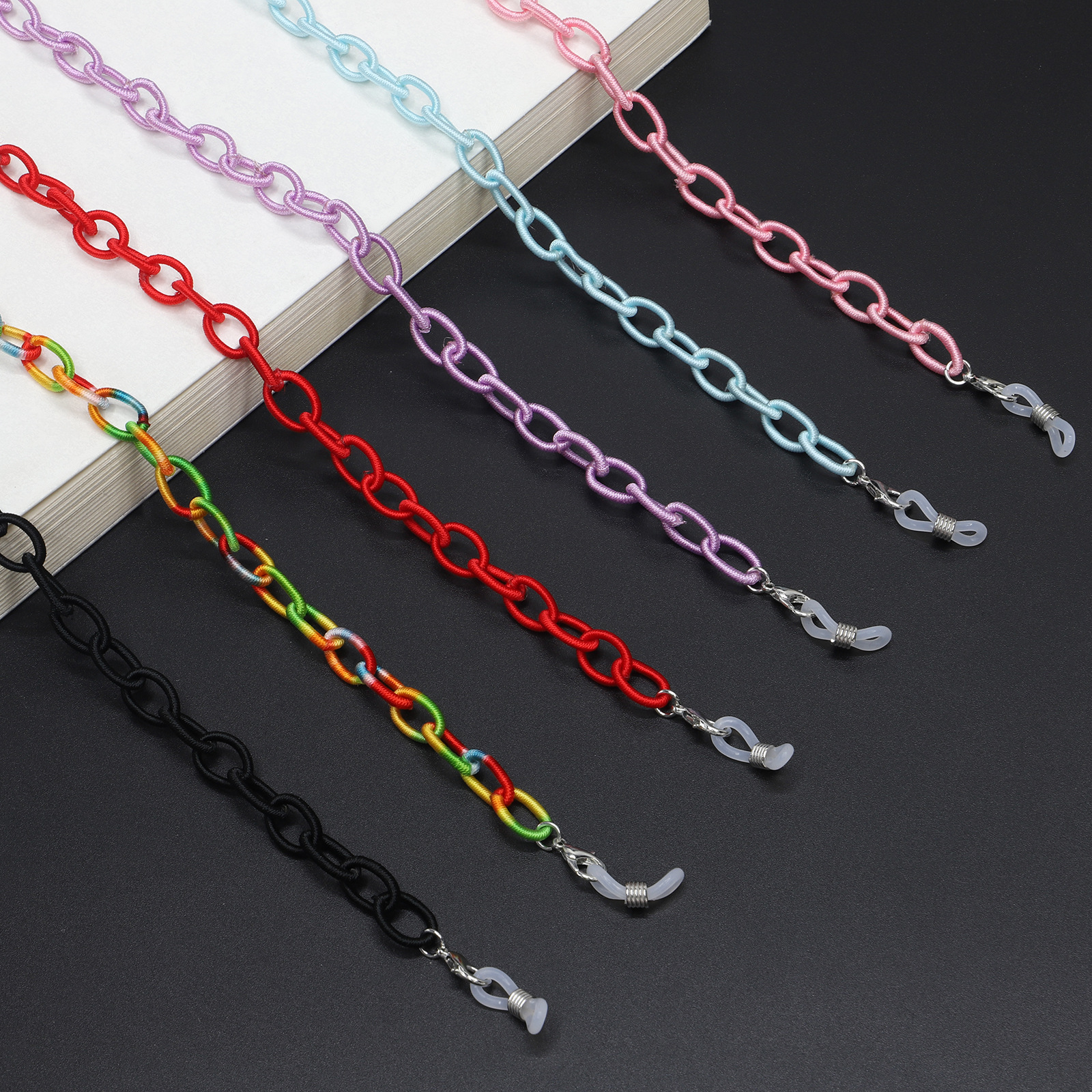 90cm Long Glasses Chain For Women Reading Glasses Hanging Neck Rope Sunglasses Chain & Largands Strap Fashion Accessories