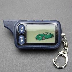 TZ9030 ЖК-пульт дистанционного управления брелок TZ-9030 брелок для автомобиля безопасности двухсторонняя автомобильная сигнализация система ...