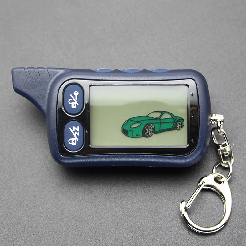 TZ9030 LCD Remote Control Keychain TZ-9030 Key Fob Chain for Vehicle Security Two Way Car Alarm System Tomahawk TZ 9030