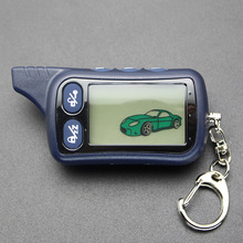 TZ9030 LCD Remote Control Keychain TZ-9030 Key Fob Chain for Vehicle Security Tw