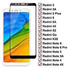 9D закаленное стекло для Xiaomi Redmi 5 Plus 6 Pro 5A 6A 4X S2 G2 K20 защита для экрана Redmi Note 6 5 5A 4 4X Pro защитное стекло