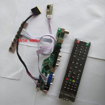 TV56 kit for LP156WH3 Controller driver board 15.6 LED VGA 40pin LVDS 1366X768 LCD remote TV AV Panel Screen USB HDMI tv hdmi vga av usb audio tv lcd driver board 15 4 inch lp154w01 b154ew08 b154ew01 lp154wx4 1280x800 lcd controller board diy kit