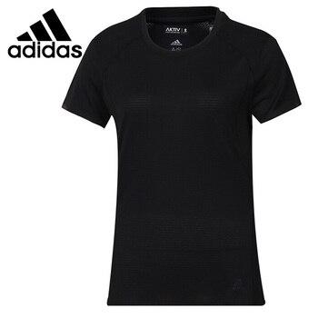 Original New Arrival  Adidas FR SN SS TEE W Women's T-shirts short sleeve Sportswear 1