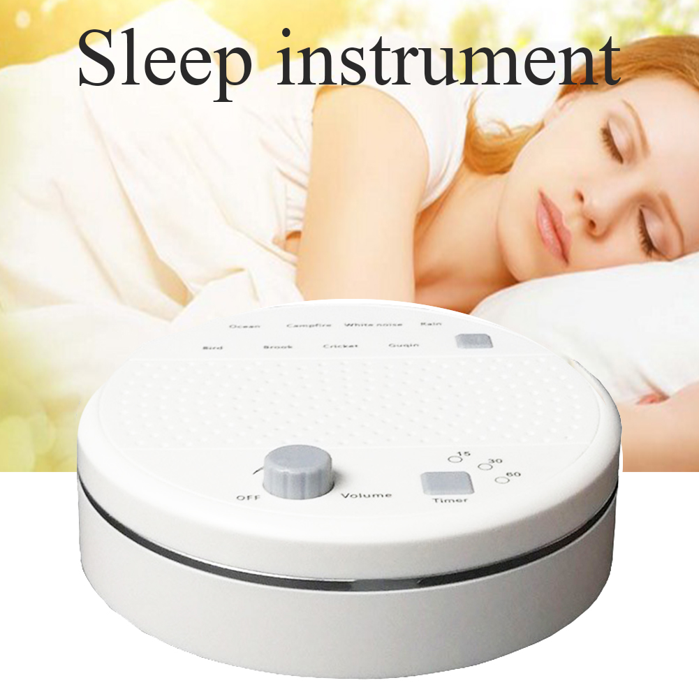 Sleep Sound Machine Helper USB Rechargeable Relaxation ABS Portable Volume Control Office Music Timing White Noise Baby Soothers