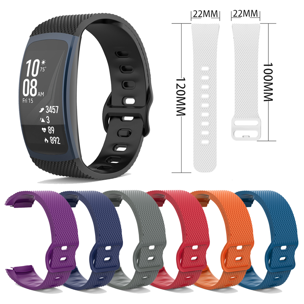 For Gear Fit 2 SM-R360 Fit 2 Pro SM-R365 Watch Strap TPU Watchband Replacement Wristband Bracelet Fit 2 Pro SM-R365 Accessories