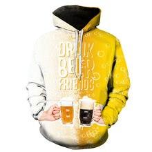 Sweat à capuche imprimé en 3D pour hommes/femmes, collection bière/fruits glacés, ananas et citron et autres séries, automne et hiver