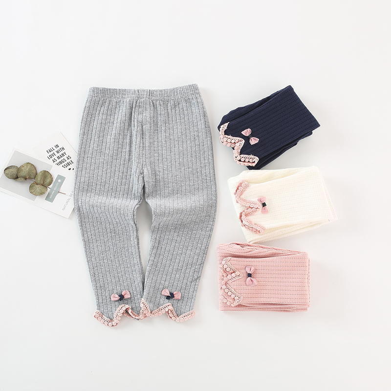 High Quality Cotton Baby Pantyhose Autumn Winter Baby Girl Pants Knitted Newborn Leggings Toddler Infant Casual Trousers