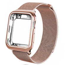 цена на Milanese Loop Band for Apple watch 42mm 38mm Link Bracelet Strap Magnetic adjustable buckle with adapter for iwatch Series 54321