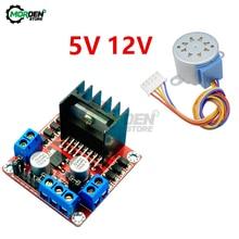 Controlador de Motor paso a paso L298N DC + 28BYJ-48, 5V, 12V, engranaje de reducción, Motor paso a paso de 4 fases para Arduino