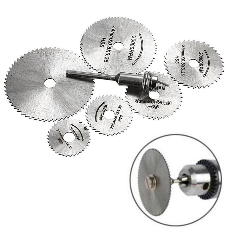 GloryStar 7pcs Circular Saw Blades 22/25/32/35/44/50mm For Wood Soft Metal Cutting Disc Power Tools Accessories