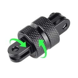 Adaptador de trípode para cámara GoPro Hero 9, 8, 7, 6, 5, 4 Yi, Eken, Sjcam, accesorio para cámara de acción, rotación de 360 grados, de aluminio