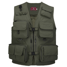 Fishing Vest Multi Pocket  Quick Dry Fish Mesh Outdoor Sports