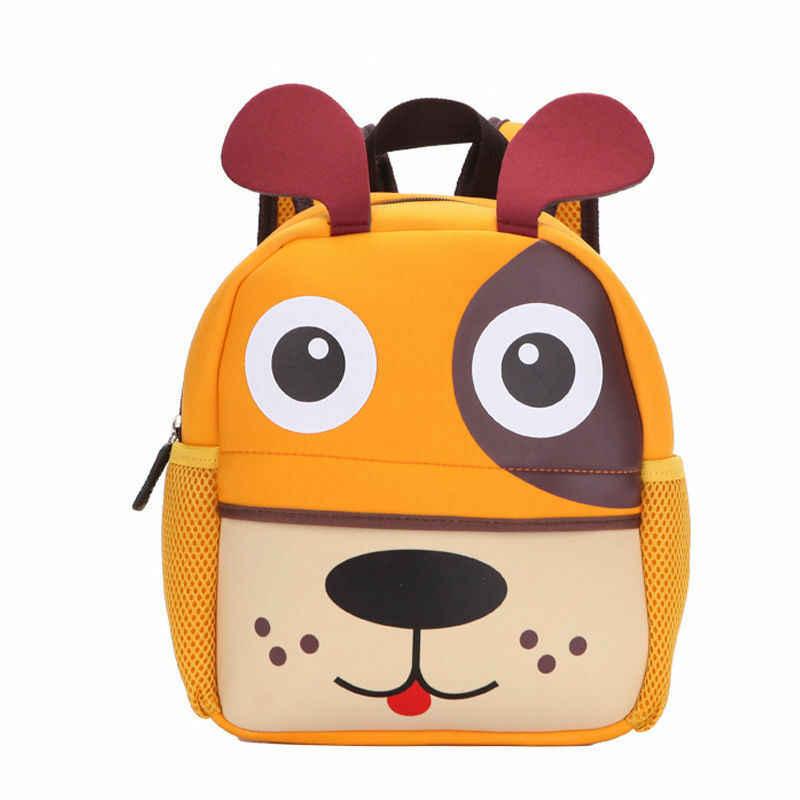 Mini mochila lindo chico niño mochila Kinder mochila 3D de dibujos animados de animales de chico s Multi-función pequeña escuela mochila