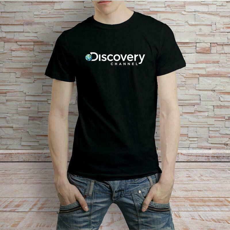 DISCOVERY CHANNEL LOGO T-SHIRT MEN'S TEE USA SIZE EM1