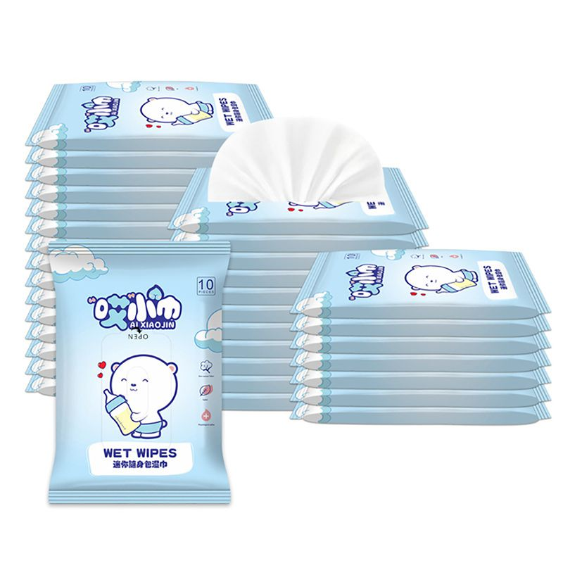 10Pcs Travel Pack Baby Gently Sensitive Wet Wipes For Hand Cleaning  Portable Wipes Baby Wipes