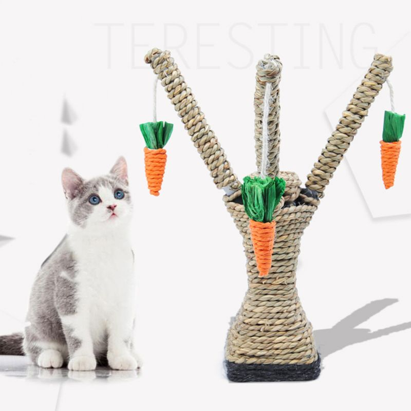 Interactive Cat Toys Tree Tower Shelves Climbing Scratching Post Sisal Rope Toy