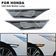 2X รถ LED Side Marker Switchback Amber เลี้ยวไฟสัญญาณตำแหน่งสำหรับ Honda Civic 10th Gen 2016 2017 2018 2019 2020