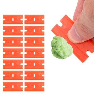 Image 3 - Window Glass Clean Scraper 100pcs Double Edged Plastic Razor Blade Car Wrap Sticker Squeegee Lable Clean Razor Glue Remover