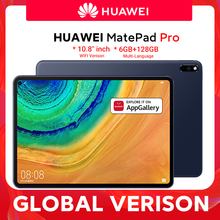 Versão global huawei matepad pro wifi 6gb128gb tablet android 10 turbo 10.8