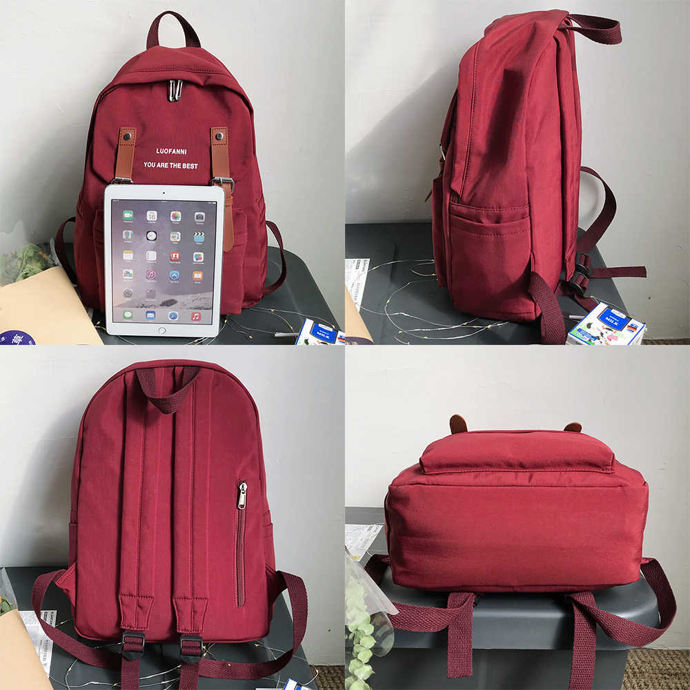 Kobiety Student ładny plecak Kawaii wodoodporna nylonowa torba szkolna dziewczyna modna klamra plecak na laptopa kobieta torba na książki panie luksusowe