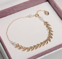 YUN RUO 2020 Gold Wheat Pearl Bracelet Woman Birthday Gift Fashion Stainless Titainum Steel Jewelry Yellow Gold Color Never Fade цена 2017