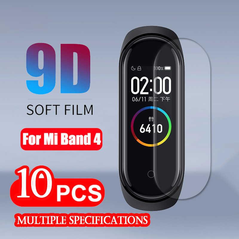 Xiomi Mi Band4-Protector de pantalla, película suave para Xiaomi Mi Band 4, accesorios para pulsera inteligente, funda de película permeable para pantalla completa