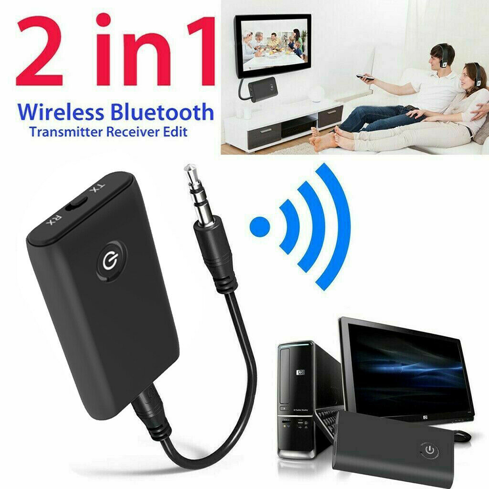 2 In 1 Bluetooth V4 Transmitter & Receiver Wireless A2DP Audio 3.5mm Jack Aux Adapter For TV Phone PC Y1X2 MP3 MP4 TV PC