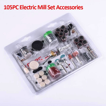 105Pcs/Set Electric Grinder Set For Grinding Sanding Polishing Disc Wheel Tip Cutter Drill Disc Engraving Electric Rotary Tool dutoofree mini electric drill accessories electric grinding set grinder tool for milling polishing drilling engraving hand drill