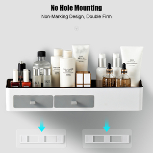 Image 3 - Punch free Bathroom Organizer Rack Shampoo Cosmetic Storage Rack Bath kitchen Towel Holder Household Items Bathroom Accessories