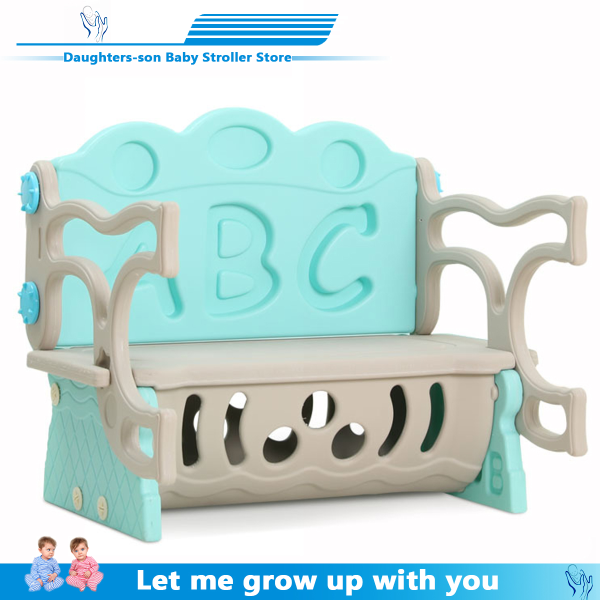 Children Chair S Multi-function Study Table Folding Deformation Sofa Chair Baby Eating Table Infant Game Storage Table And Chair