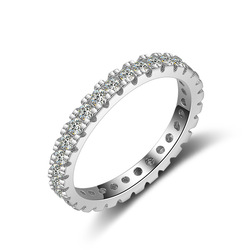 14 K White Gold Natural Moissanite Ring Real White Diamond Wedding Ring for Female Fashion Topaz Gemstone Bizuteria Jewelry Ring