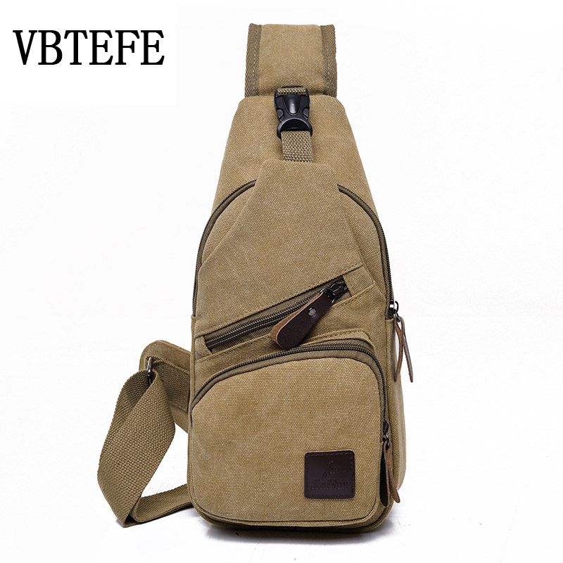 VBTEFE New Canvas Outdoor Cycling Shoulder Messenger Bags Breathable Large Capacity Crossbody Bag Mu