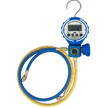 Pressure Gauge Refrigeration Digital Vacuum Pressure Manifold Tester Meter With sight glass and Hose HVAC Temperature Tester
