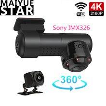 4K 2160P Мини 360 ° панорамный Автомобильный видеорегистратор Sony IMX326 камера Novatek 96660 рекордер Wifi HD ночное видение 24 часа мониторинг парковки
