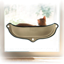 Cat Hammock Bed Window Mounted Lounger Sunbath Perches For Pet Cats Rest House Soft And Comfortable Ferret Cage