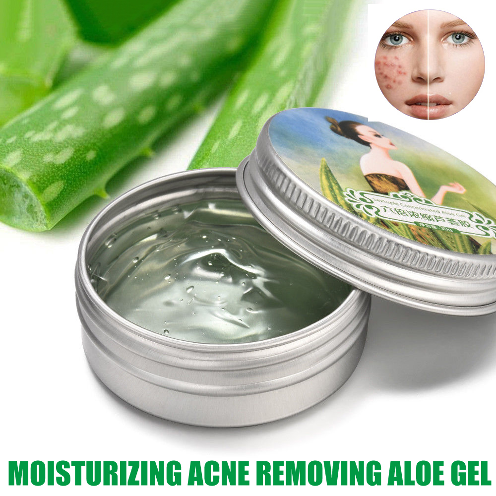 Aloe Vera Gel Moisturizer Anti-Acne Soothing Cream Gel Sun Burnt Repair LDO99