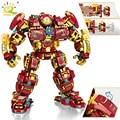 HUIQIBAO 1450PCS Stadt Krieg Super Rüstung Roboter Bausteine Military Krieger Mecha Figuren Waffe Ziegel Spielzeug Mann Für Kinder