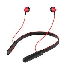 سماعة أذن مزودة بتقنية البلوتوث وتعمل على مدار 24 ساعة بشريط حول الرقبة من الجلد سماعات أذن ستيريو لاسلكية سماعات أذن رياضية
