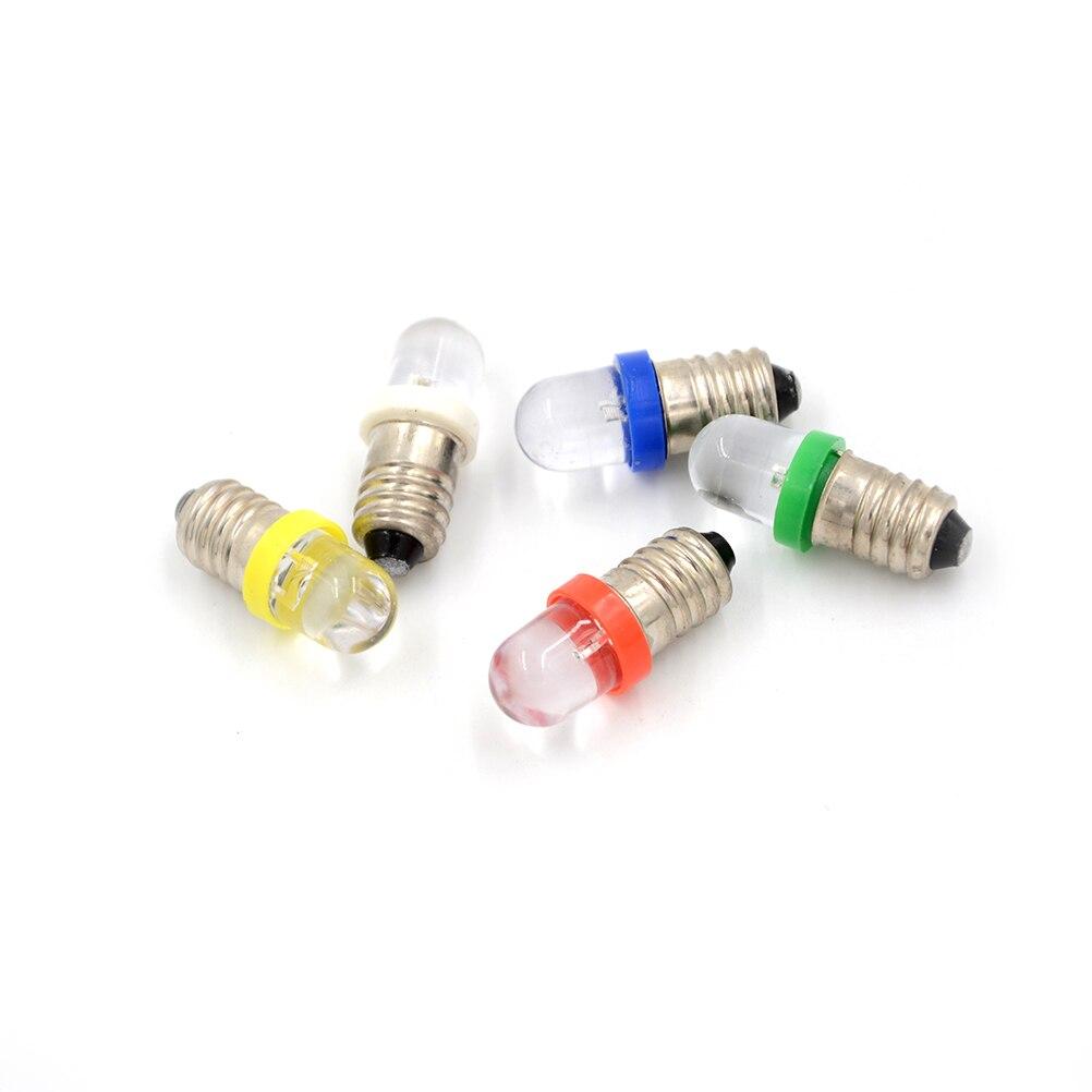 5 unids/lote bombilla de bajo consumo E10 LED Bombilla indicadora de Base de tornillo blanco frío 6 V/12 V/24 V CC Lámparas de bombilla Led E27/E26 lámpara de mesa Flexible brazo oscilante abrazadera montaje lámpara Oficina estudio hogar mesa escritorio luz UE/EE. UU. Enchufe AC85-265V