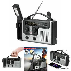 2020 NEW Outdoor Multifunctional Solar Radio Portable FM/AM Radio Built-in Speaker Support LED Emergency Flashlight Table Lamp