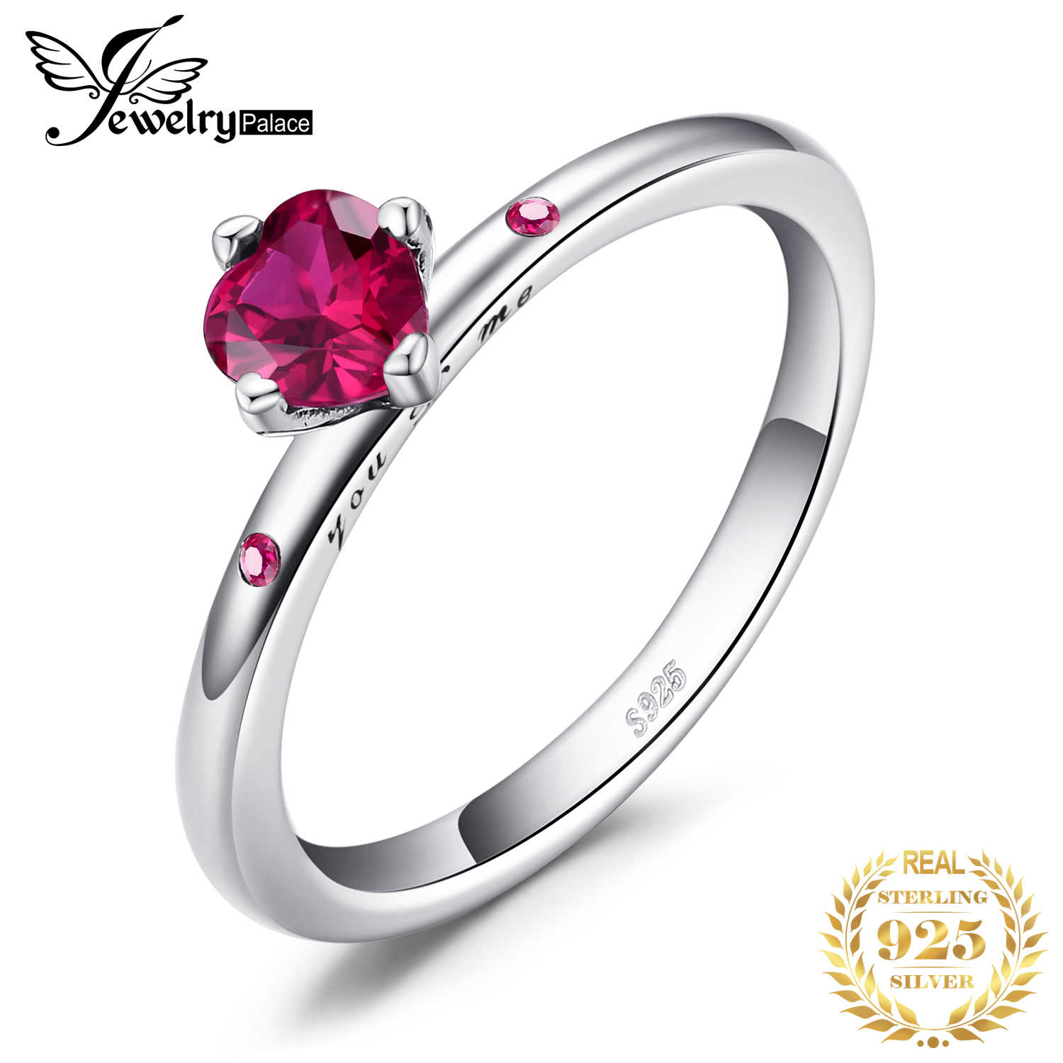 JewelryPalace Red Murano Glass Ring 925 Sterling Silver Rings for Women Stackable Ring Band Silver 925 Jewelry Fine Jewelry