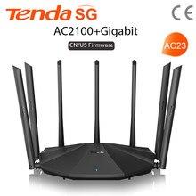Tenda-routeur wi-fi à double bande AC2100, Gigabit, pour une couverture plus large, installation facile, répéteur sans fil, avec 7 antennes 6dbi à Gain élevé