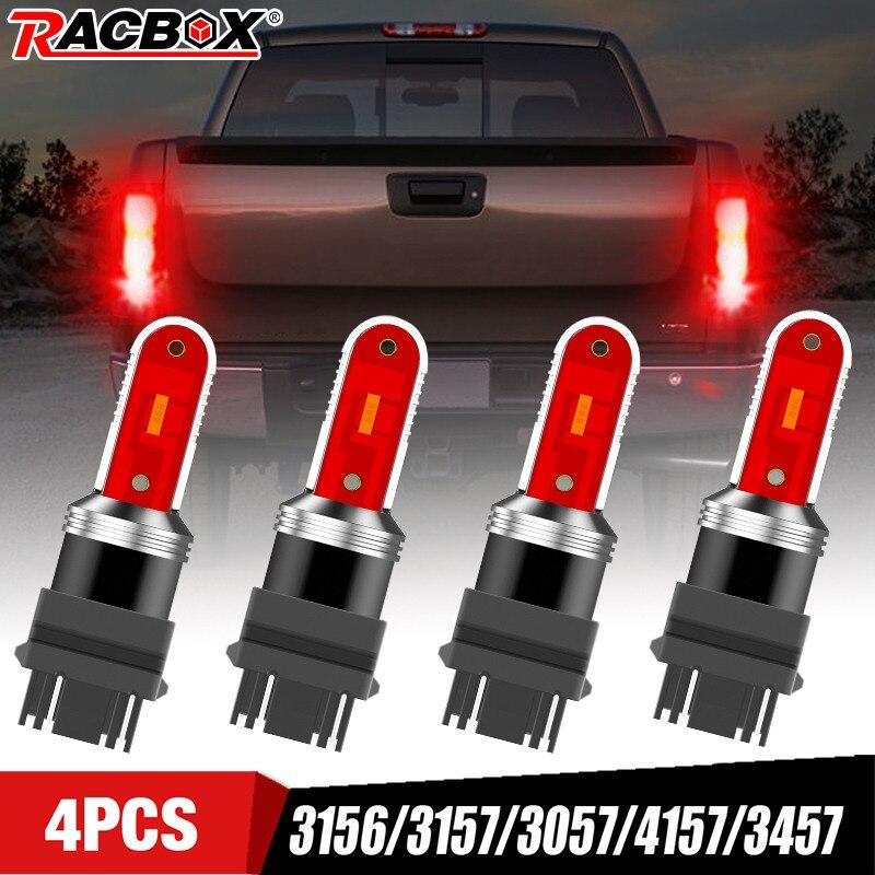 4 Uds coche luz trasera de freno luces de estacionamiento 12-24V luces de estacionamiento rojo 3156/3157/3057/4157/3457 para Ford F150 Chevrolet Silverado 1500