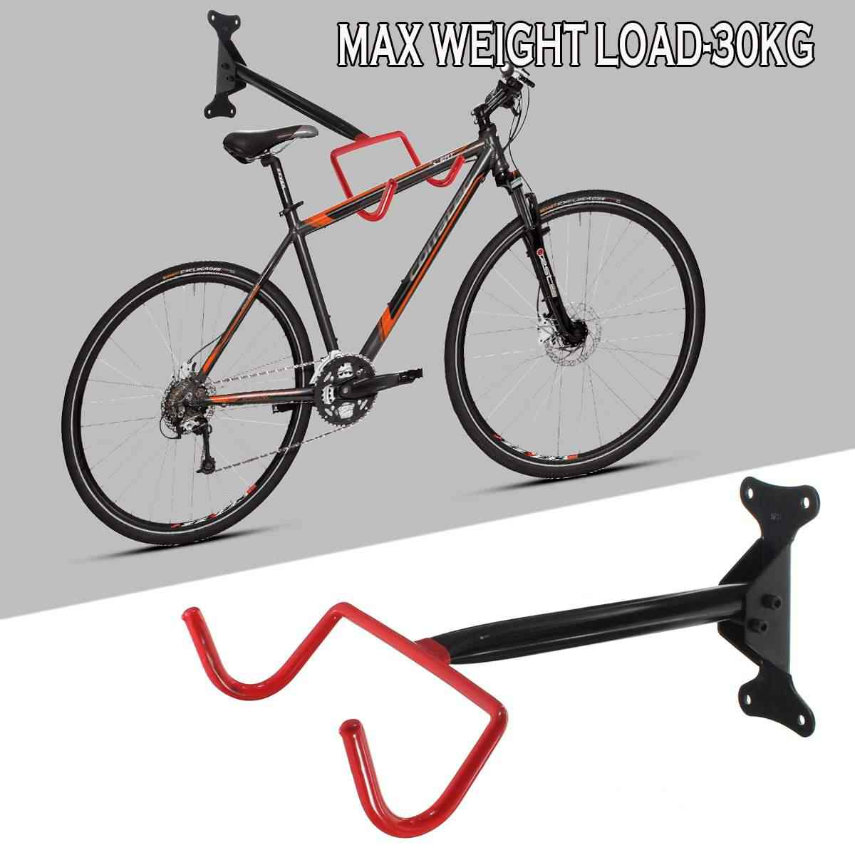 Bicycle Wall Holder Mountain Bike Wall Mounted Holders Heavy Duty Hanger Holds