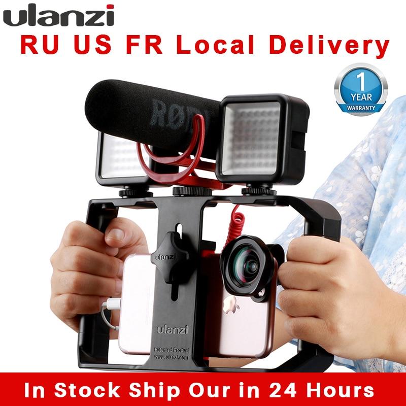 Ulanzi Tripod-Mount Case Grip Video-Stabilizer Filmmaking Phone U-Rig-Pro Android