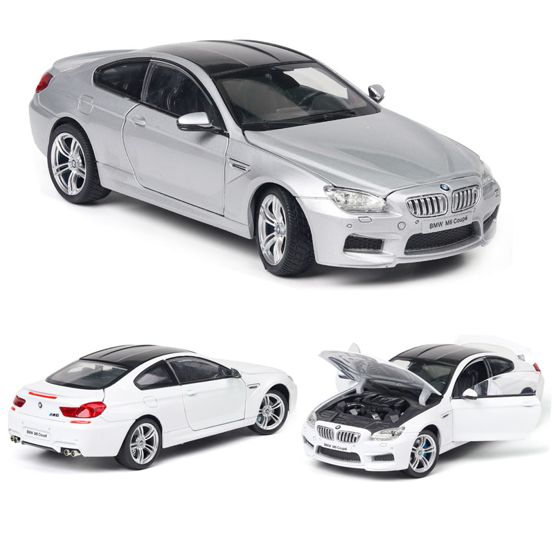 1:24 BMW M6 Car Model Alloy Car Die Cast Model  Toy Car Kid Toy BirthdayChristmas Gifts Free Shipping