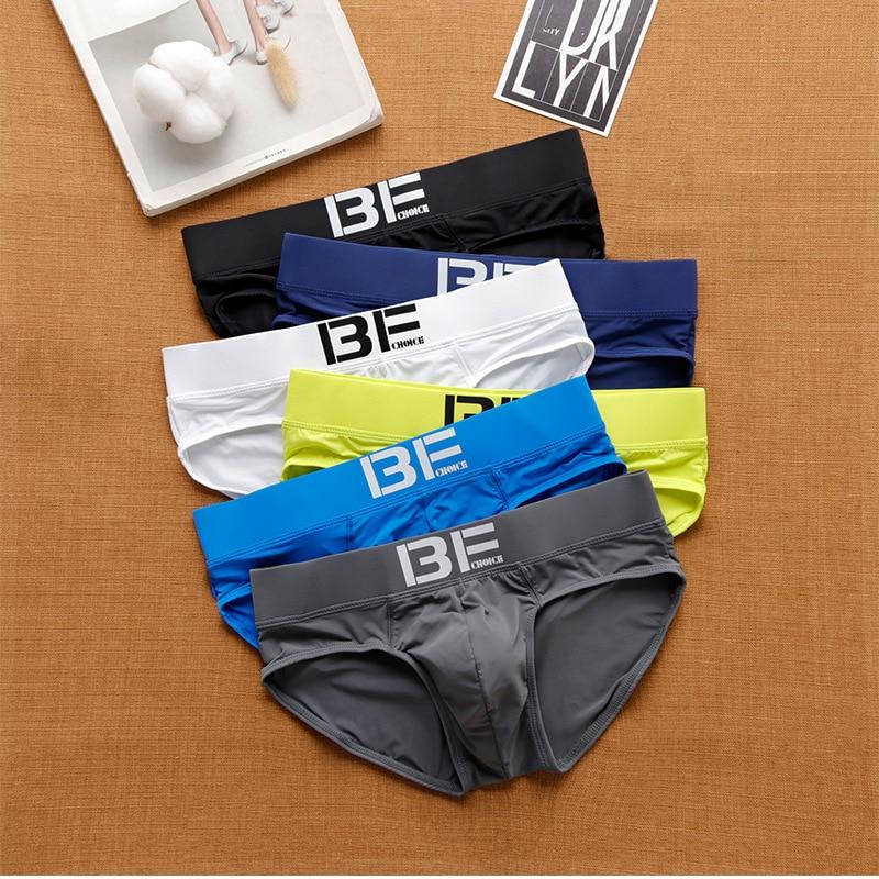 Dropshipping Men Underwear Male Underpants Pants Low Rise Men Underwear Comfortable Breathable Briefs New Men's Briefs Slip 1