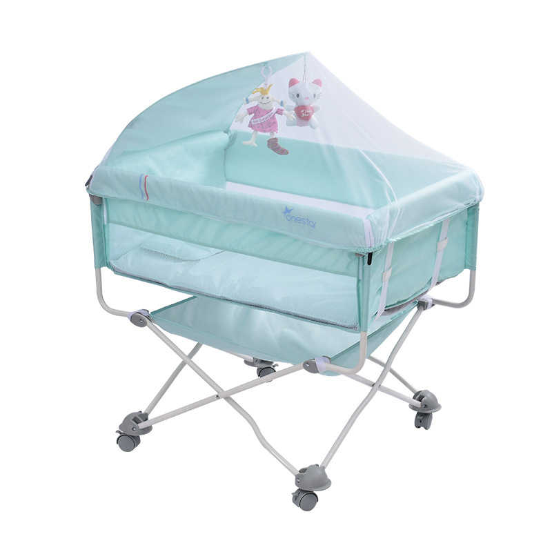 European style portable crib foldable baby outdoor travel bed EU Country Shipping by UPS
